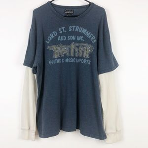 Lucky Brand Vintage Inspired Thermal Graphic Tee